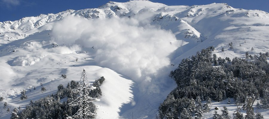 Bad Ski News -- a photo of an avalanche