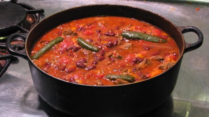 a pot of chilli