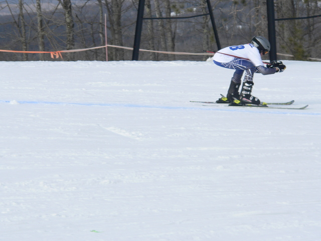 This skier is in a pretty good tuck