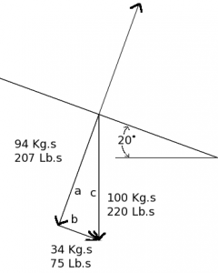 Free Body Diagram 220 pound skier on a 20 degree slope