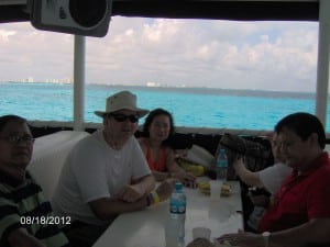 return to Cancun Mexico from Isla Mujeres