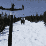 bad ski news -- riding up a chairlift