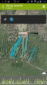 The line I skied