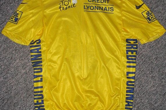 the yellow jersey of the Tour de France