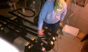 waxing the skis
