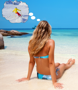 Top Ten Things a Skier does on a Tropical Vacation