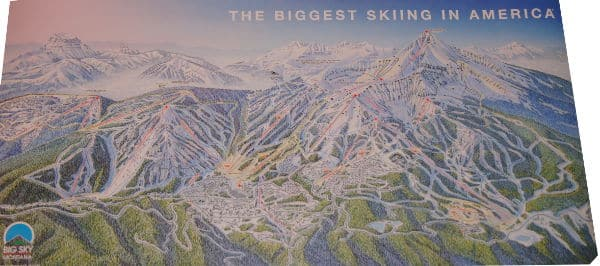 ski trail map art
