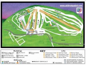 Ski Brule's Ski Map Art!
