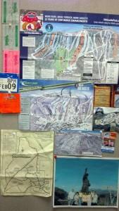ski map art