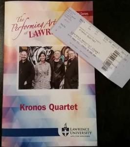 Kronos Quartet in Appleton Wisconsin