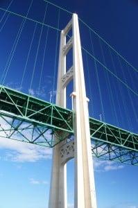 Mackinac Bridge while Touring Mackinac Island