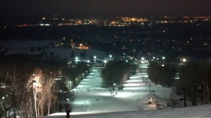 night-skiing!