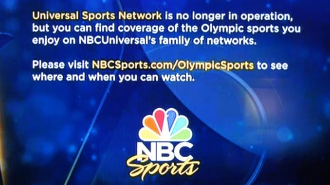 Universal Sports is off the Air