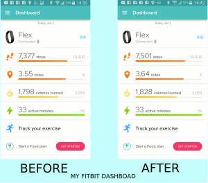 Before and After Skiiing -- My Fitbit Dashsboard