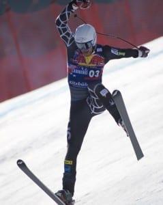 Skiing ABCs H is for Hanenkamm -- Skier Crashing