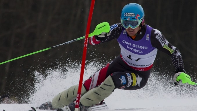 Ted Ligety Injured -- Ted Ligety Making a Slalom Ski Turn
