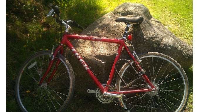 My Fitness Journey -- A Red Trek 7300 Bicycle