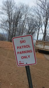 Granite Peak Cycling -- Ski Patrol Parking Only Sign