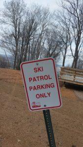 Granite Peak Cycling -- Ski Patrol Parking Only Sign