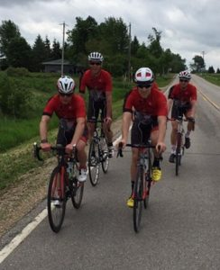 Group Cycling  Culture-- Four Diablo Cyclists on a Ride
