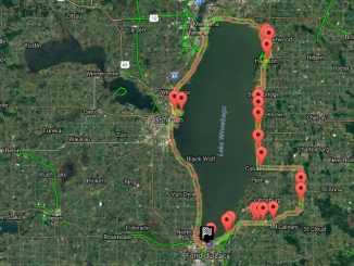 Race the Lake 2016 -- My track around Lake Winnebago
