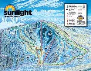 Sunlight Mountain ski trail map