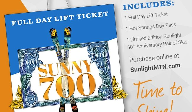 Sunlight Mountains $700 lift ticket