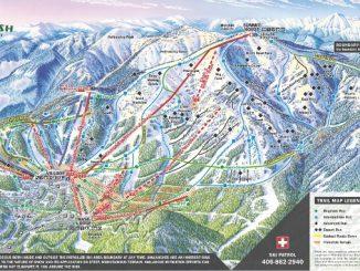 Whitefish Bucket List -- Trailmap of Whitefish Mountain frontside