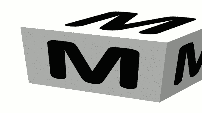 The Skiing ABCs M -- a cube with M on its faces