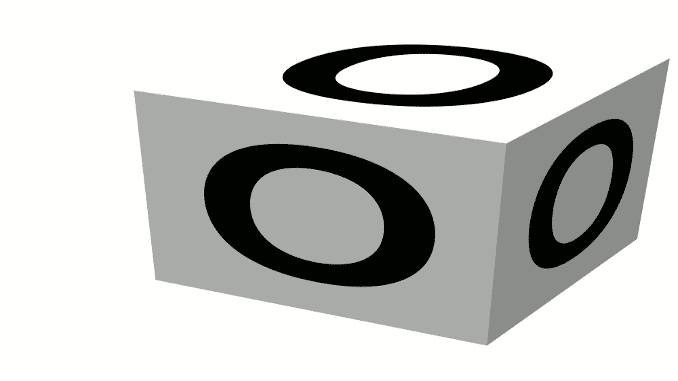 The Skiing ABCs O -- A wooden letter block with the letter O