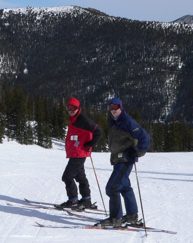 Dad & Brian on a blue on Monarch Mtn.