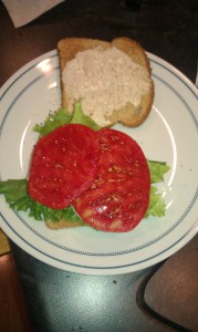 Brandywine Tomato Slices fresh from our  garden