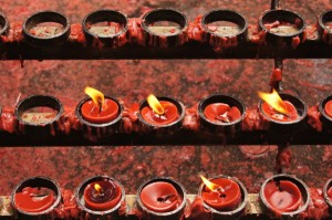 Candles at the  Basilica Del Sto Niño Cebu