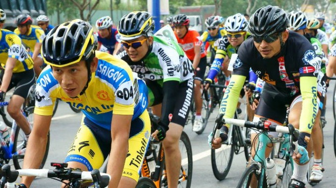 Work -- a pack of cyclists producng work