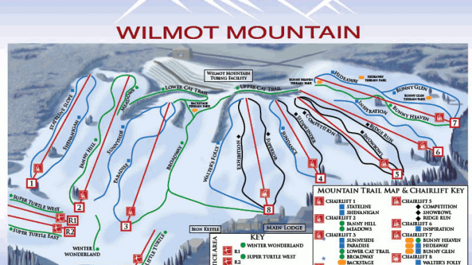 Vail Resorts Buys Wilmot Mountain. The Wilmot Mountain Trail Map