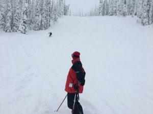 skiing whitefish mountain resort -- the kodiak mogul run
